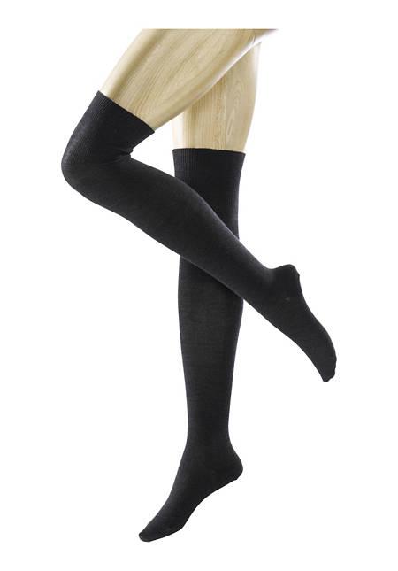 Damen Overknees aus Schurwolle mit Bio-Baumwolle