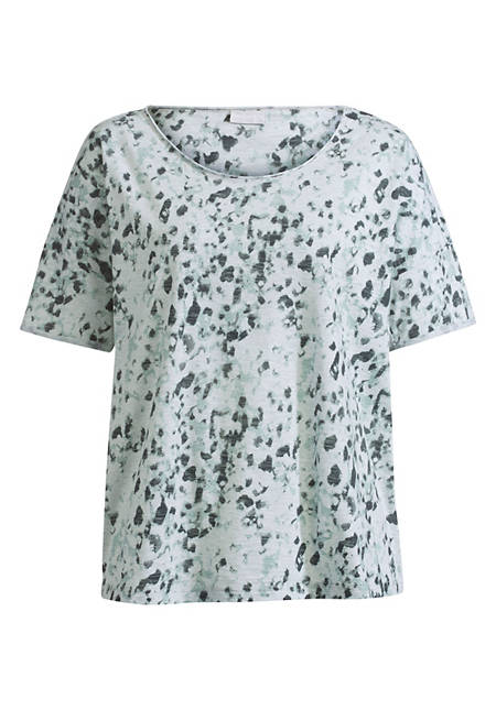 Damen Oversize-Shirt mit Animal-Print