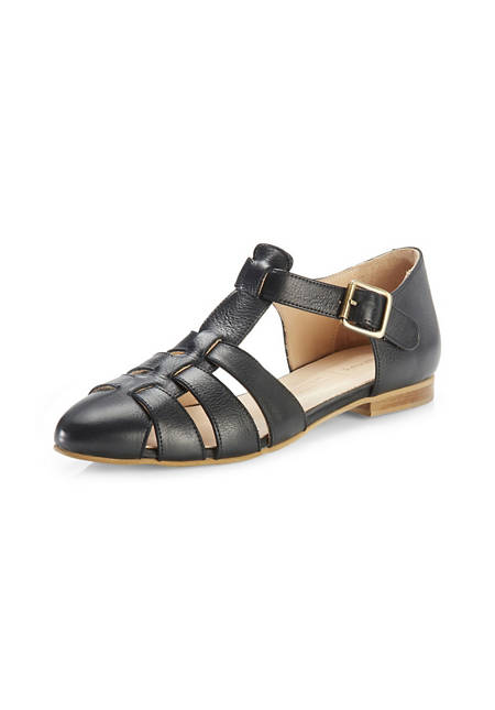 Damen Sandalette aus chromfrei gegerbtem Leder
