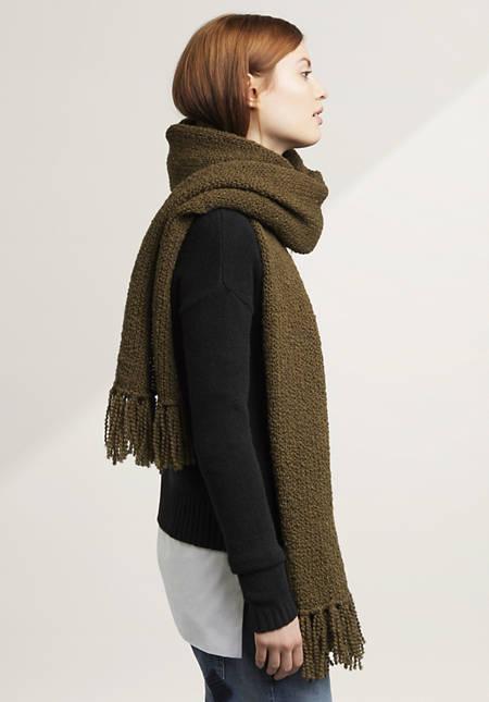 Damen Schal aus Schurwolle mit Alpaka