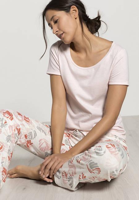 Damen Schlafhose aus Bio-Baumwolle mit Seide