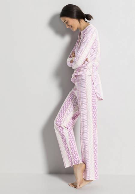 Damen Schlafhose aus reiner Bio-Baumwolle