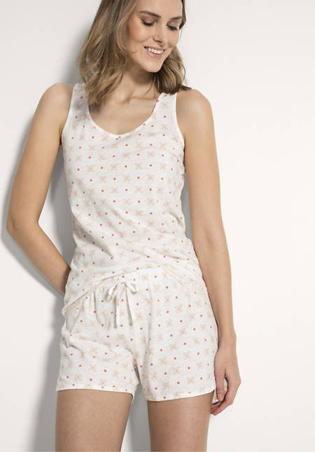 Damen Schlafshorts aus reiner Bio-Baumwolle