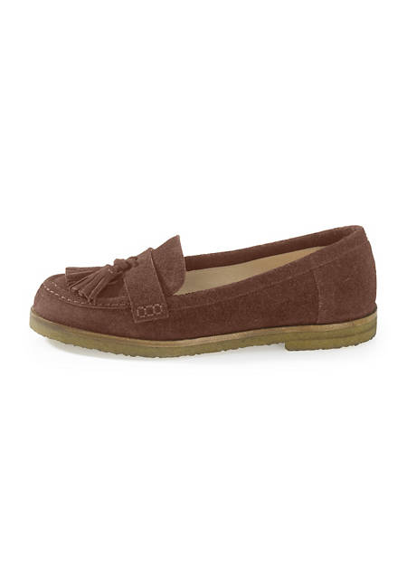 Damen Slipper aus Veloursleder