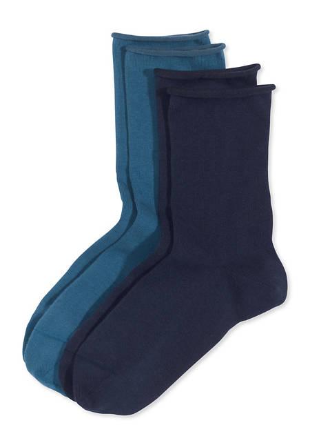 Damen Socke im 2er- Set aus Bio-Baumwolle