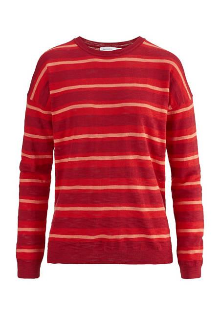 Damen Streifen-Pullover aus reiner Bio-Baumwolle