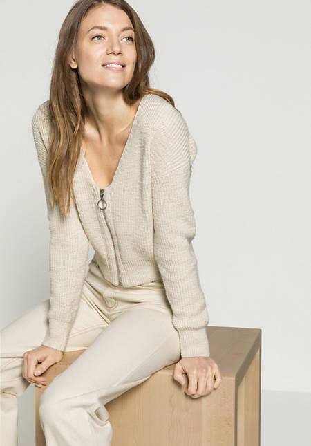 Damen Strickjacke aus reiner Bio-Baumwolle