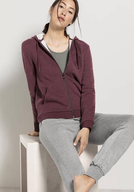 Damen Sweatjacke aus reiner Bio-Baumwolle