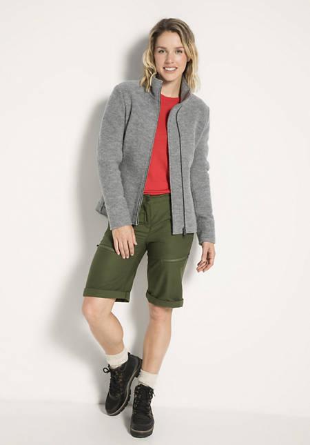Damen Walk-Jacke aus reiner Bio-Schurwolle