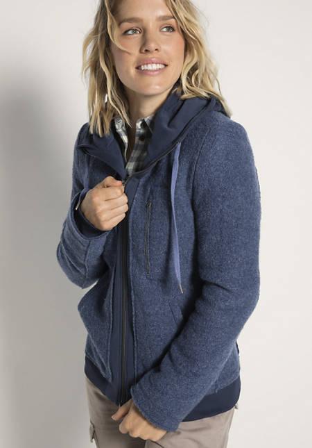 Damen Walk-Jacke aus reiner Schurwolle
