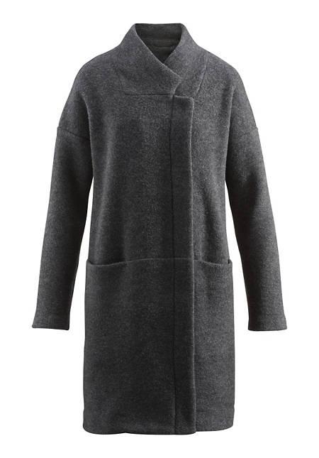 Damen Wollfleece-Mantel aus reiner Schurwolle