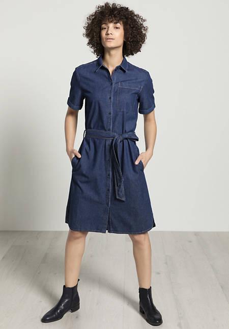 Denim dress made of organic cotton with linen