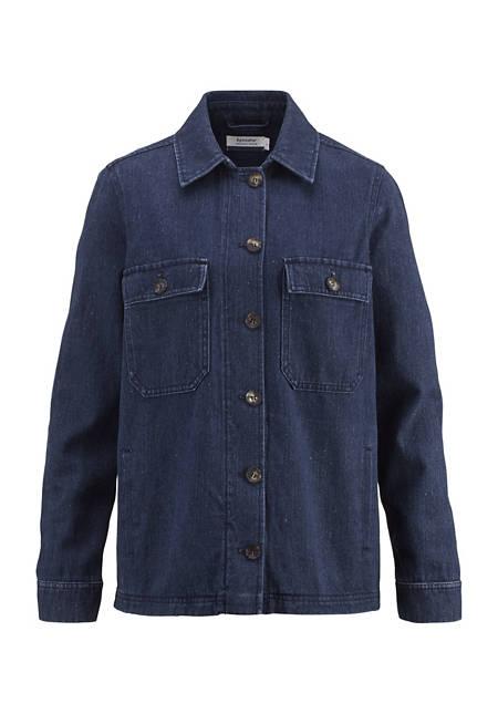 Denim jacket made of hemp with organic cotton