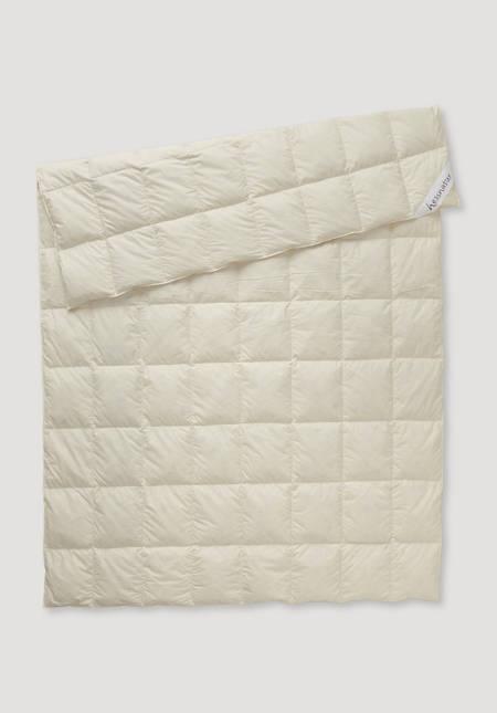 Down comforter light