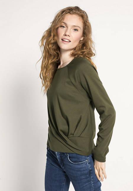 Drapé-Shirt aus Bio-Baumwolle und TENCEL™Modal