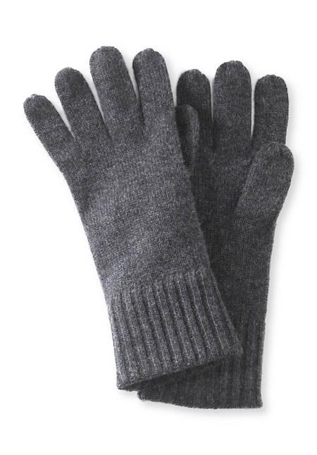 Fingerhandschuhe aus Schurwolle mit Kaschmir