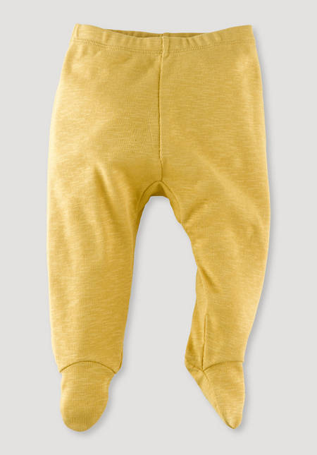 First-time trousers with foot made of pure organic cotton