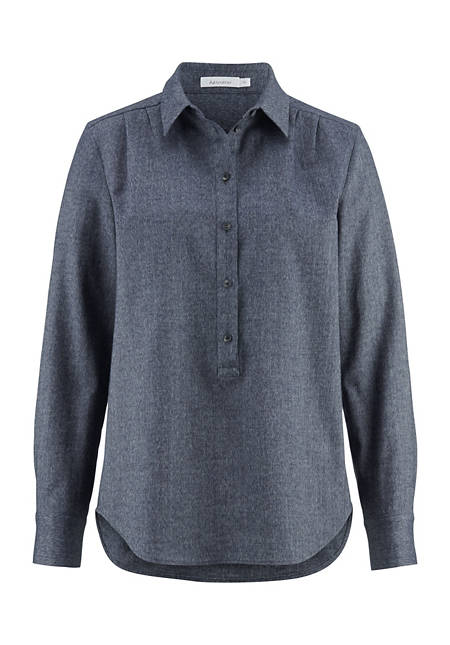 Flanell-Bluse aus reiner Bio-Baumwolle
