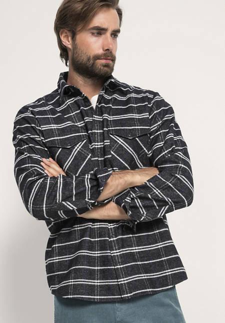 Flanellhemd aus reiner Bio-Baumwolle