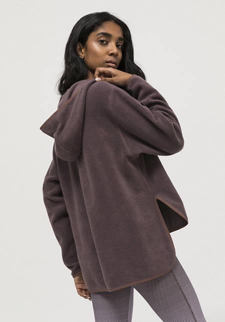 Fleece-Hoodie aus reiner Bio-Baumwolle