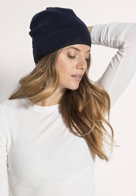 Fleece-Mütze aus reiner Bio-Baumwolle
