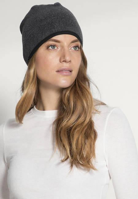 Fleece Mütze aus reiner Bio-Baumwolle