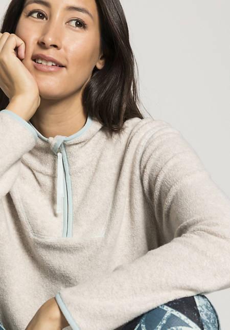Fleece sweatshirt made from pure organic cotton