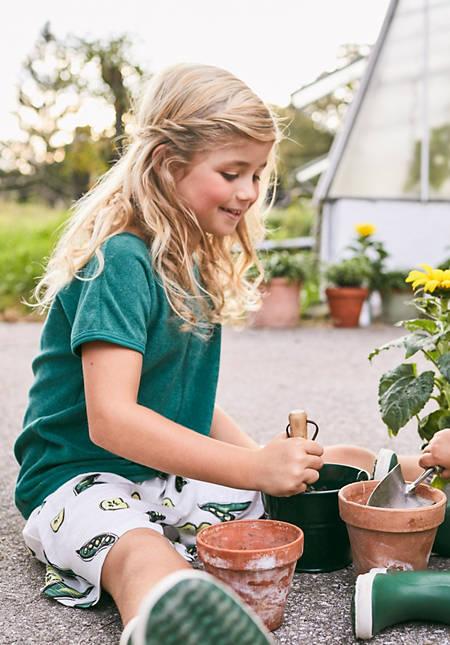 Frottee-Shirt aus reiner Bio-Baumwolle