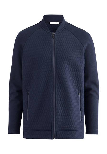 Functional jacket made of organic cotton with organic merino wool