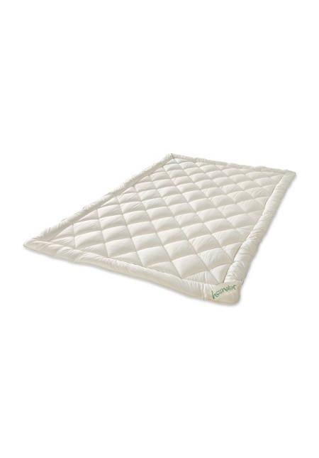 Ganzjahres-Bettdecke Bio-Schurwolle zum Wenden