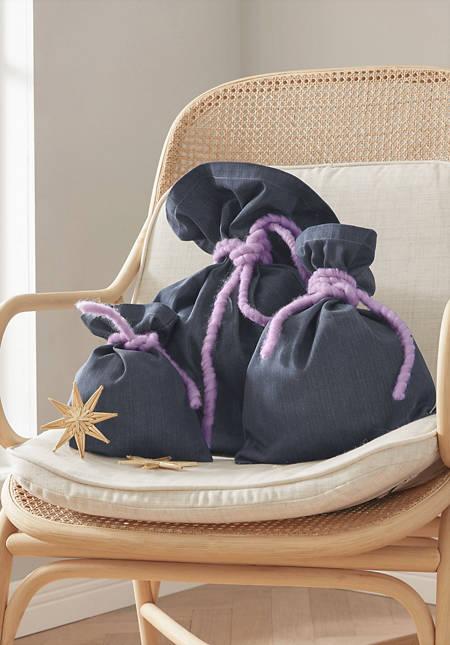 Geschenksäckchen aus reiner Bio-Baumwolle