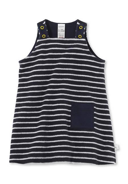 Gestreiftes Frottee Kleid aus reiner Bio-Baumwolle