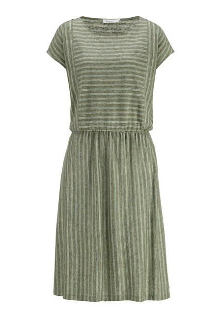 Gestreiftes Kleid aus reinem Leinen