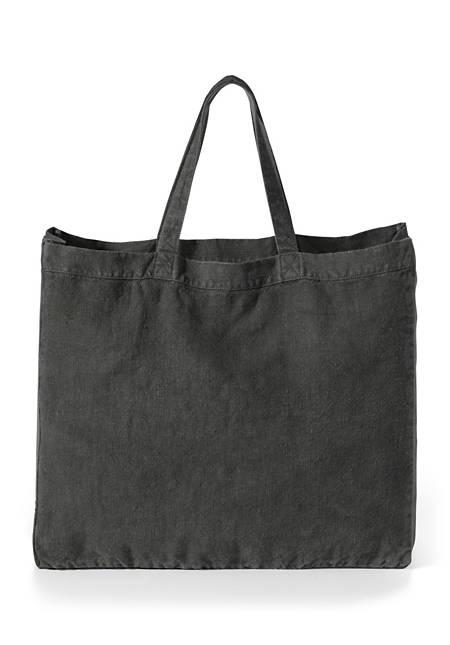 Große Tasche aus reinem Hessenleinen