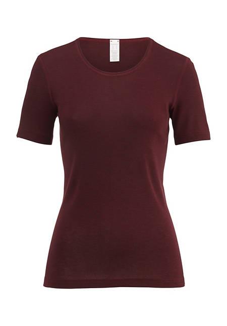 Halbarm-Shirt PureMIX aus Bio-Merinowolle mit Seide
