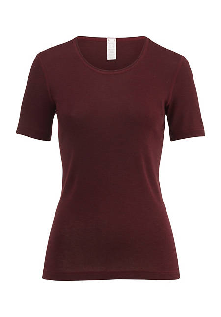 Halbarm-Shirt PureWOOL aus reiner Bio-Merinowolle