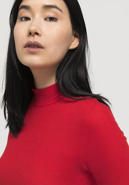Halbarm-Shirt aus Tencel™ Modal mit Schurwolle