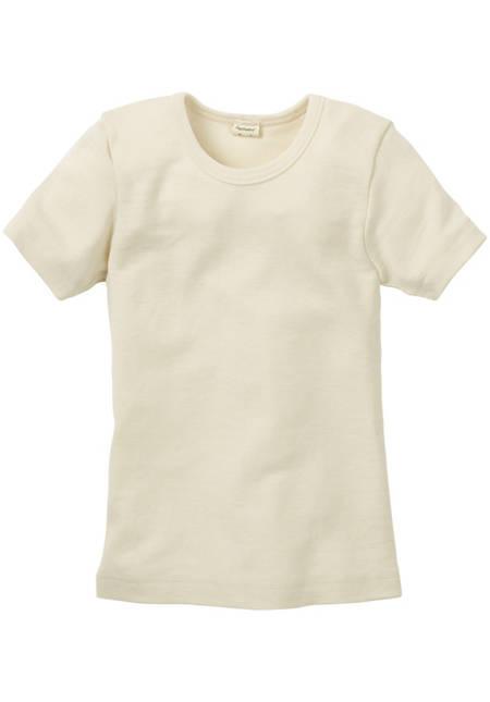 Half-sleeved shirt made from pure organic merino wool