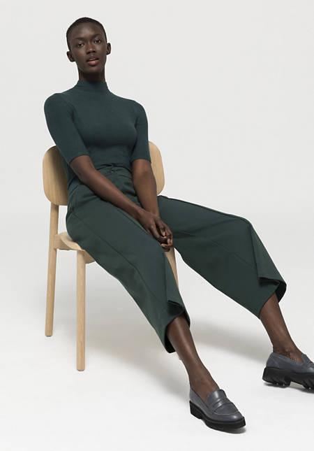 Half-sleeved shirt made of Tencel ™ Modal with virgin wool