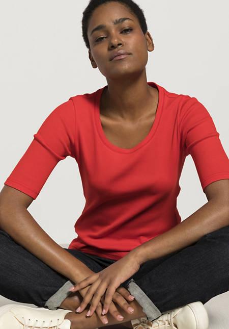 Half-sleeved shirt made of pure organic cotton