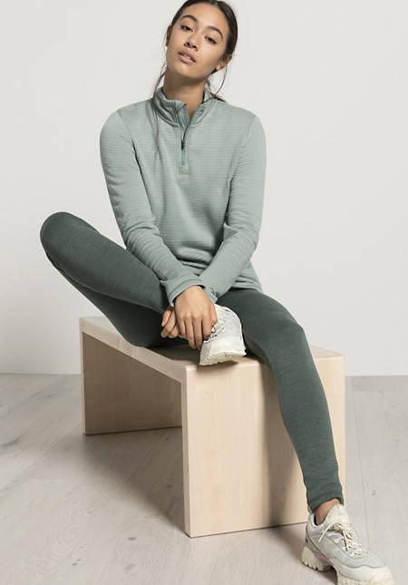 Halfzip longsleeve made of pure organic merino wool