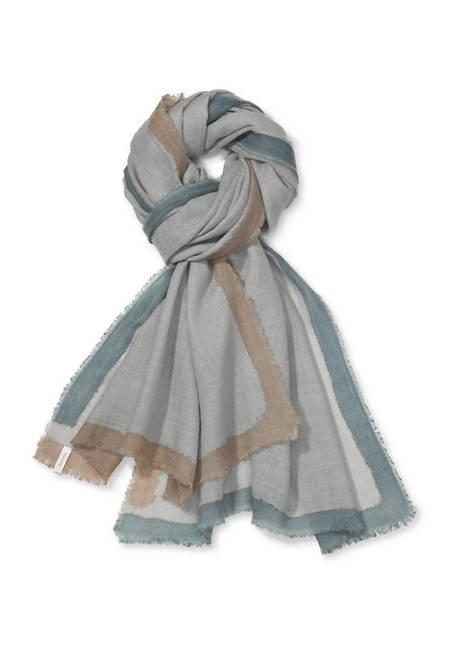 Handbemaltes Tuch aus reiner Schurwolle