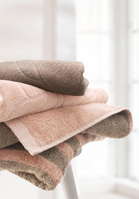 Handtuch aus Baumwolle mit Leinen