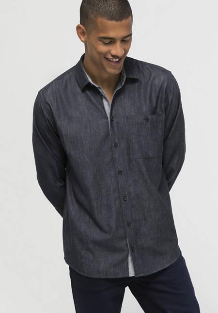 Hemd Comfort Fit aus Bio-Baumwolle mit Hanf und Yak