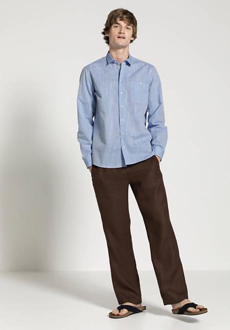 Hemd Comfort Fit aus Bio-Baumwolle mit Leinen