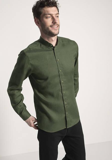 Hemd Modern Fit aus reinem Bio-Leinen