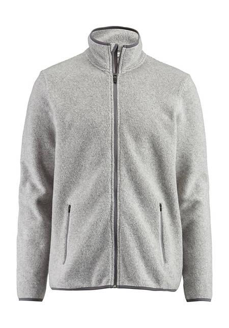 Herren Fleece-Jacke aus reiner Bio-Baumwolle