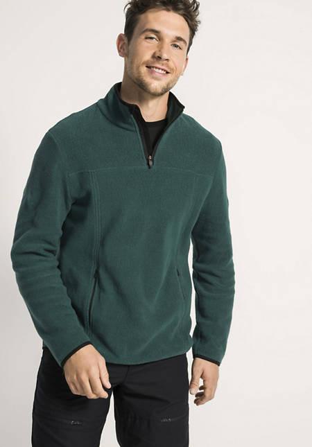 Herren Fleece-Troyer aus reiner Bio-Baumwolle