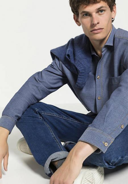 Herren Hemd Loose Fit aus reiner Bio-Baumwolle