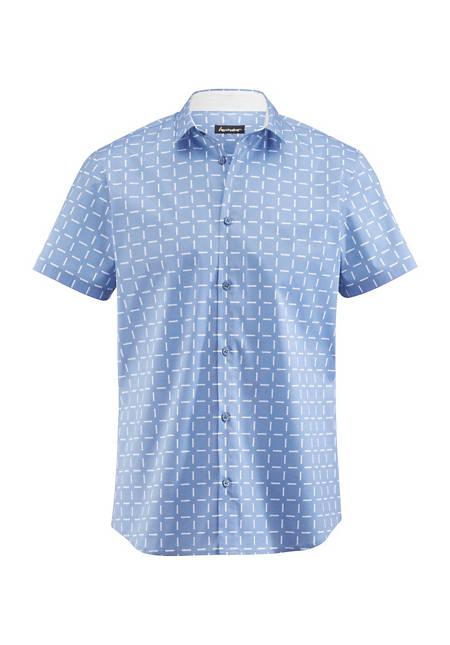 Herren Kurzarm-Hemd Slim Fit aus Bio-Baumwolle